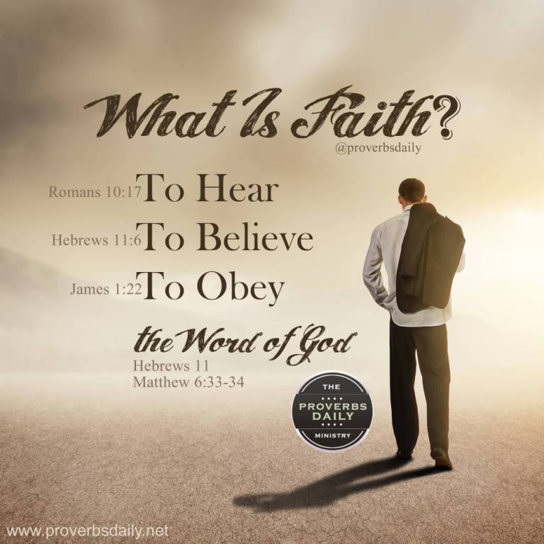 What Is Faith To Hear To Believe To Obey The Word Of God