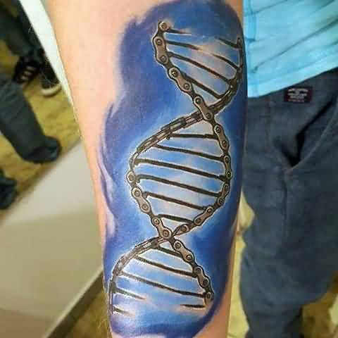 Wonderful Bike Chain DNA Tattoo For Women Sleeve