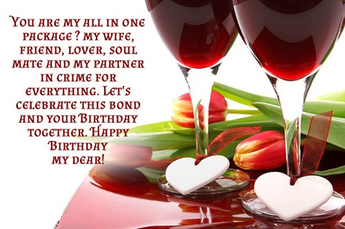 You Are My All In One Package May Wife Happy Birthday My Dear