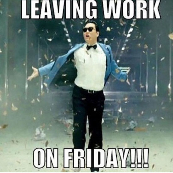 leaving work on friday!!!