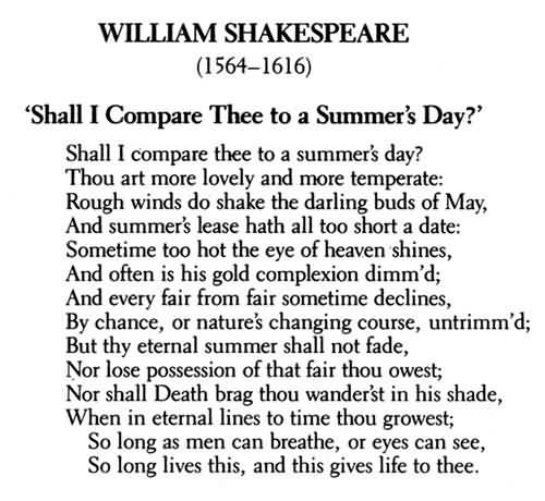 the characteristics of william shakespeares sonnets about love Love theme in sonnet 116  sonnet 116 by william shakespeare home / poetry / does the poem suggest any of love's other possible characteristics.