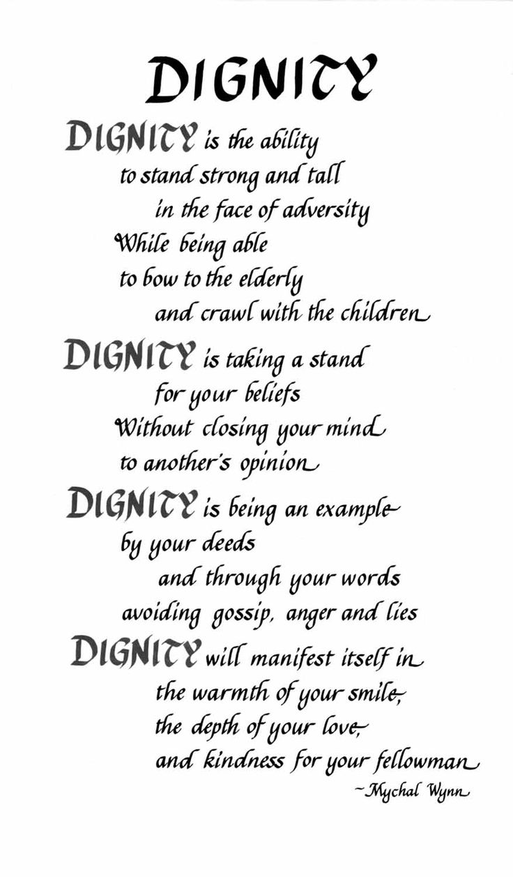 Dignity Quotes 54