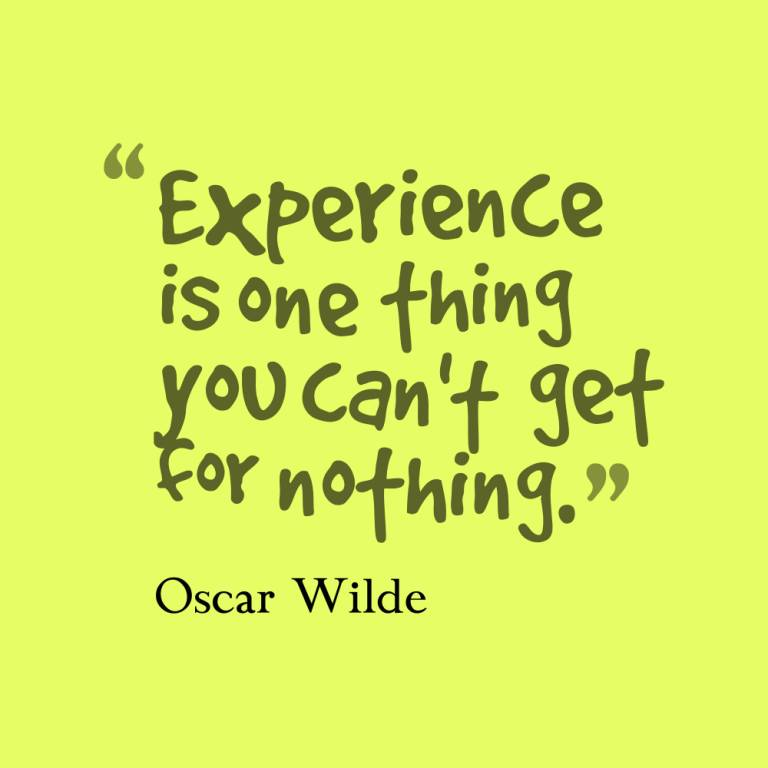 Experience Quotes 086