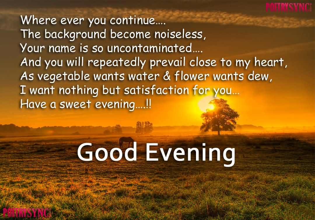 Good Evening Wishes 10