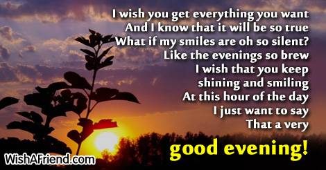Good Evening Wishes 44