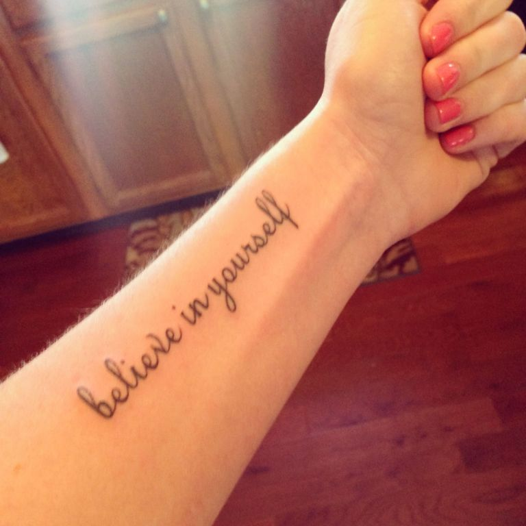 Believe In Yourself Quotes Tattoos