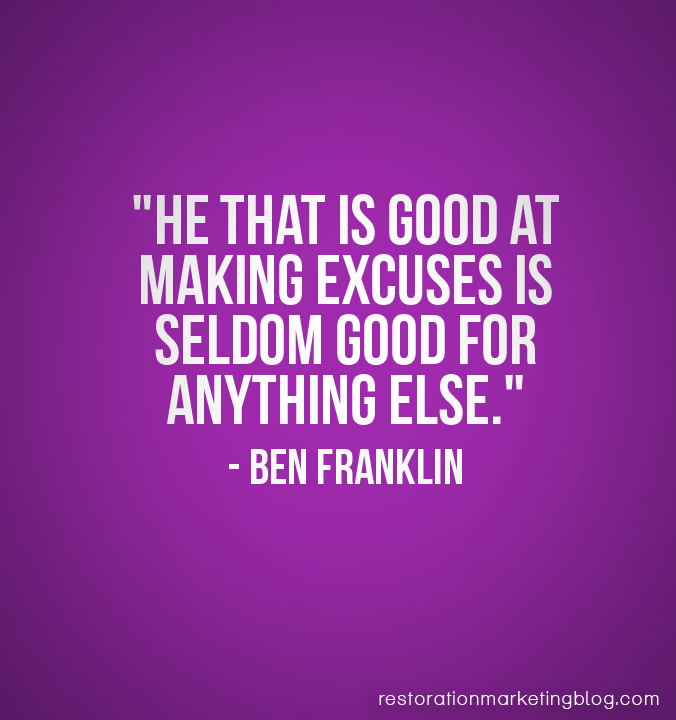 Great Excuse Quotes