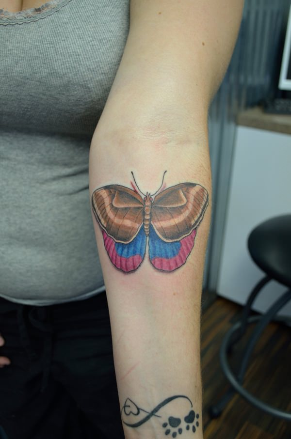 007 @ Butterfly Tattoos Awesome