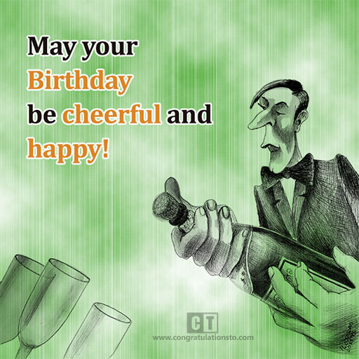 cheerful and happy birthday card