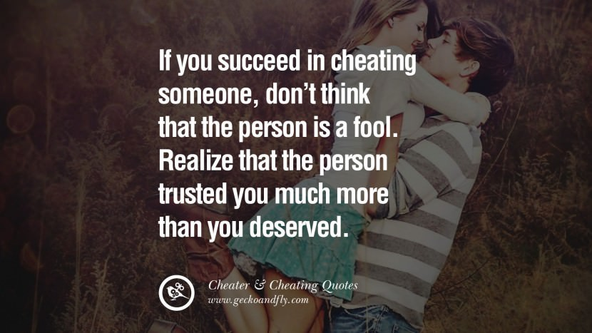 110 @ Cheating Quotes