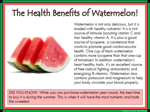 16 @ Health Benefits Of Watermelon