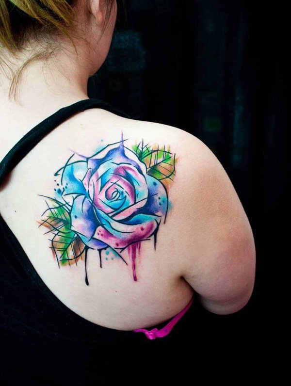 100 most amazing red rose tattoos that will show your love. Black Bedroom Furniture Sets. Home Design Ideas