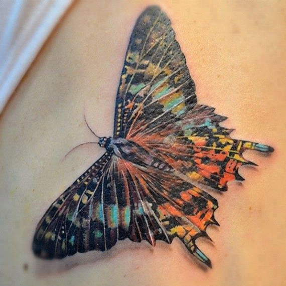 19 @ Butterfly Tattoo