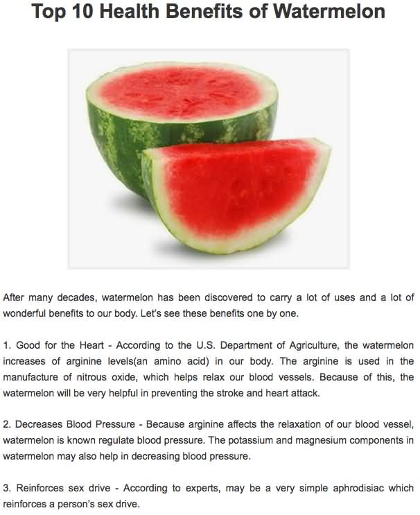 25 @ Health Benefits Of Watermelon