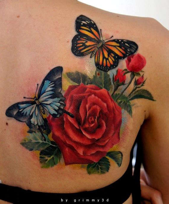 56 @ Butterfly Tattoo