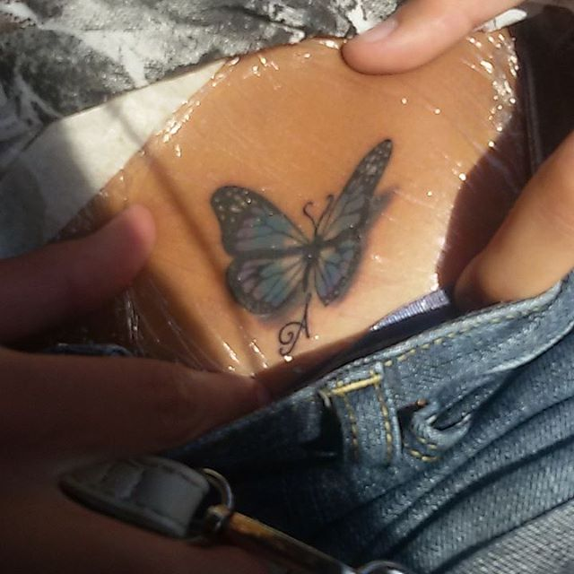 67 @ Butterfly Tattoo Hot