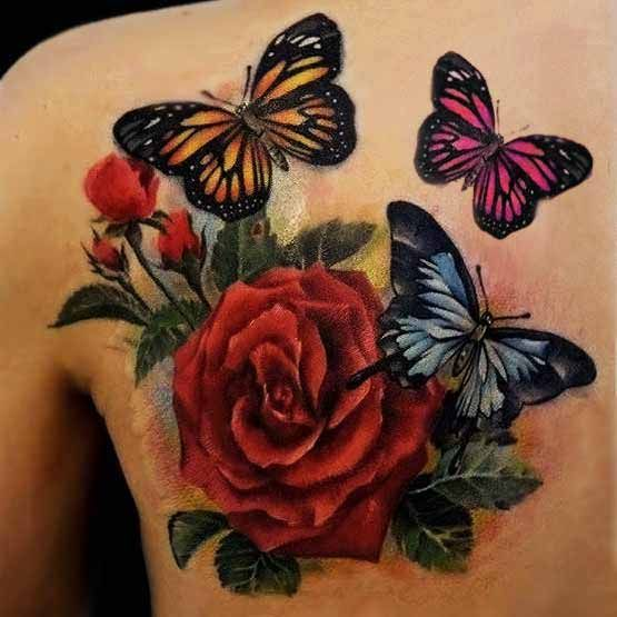 91 @ Butterfly Tattoos