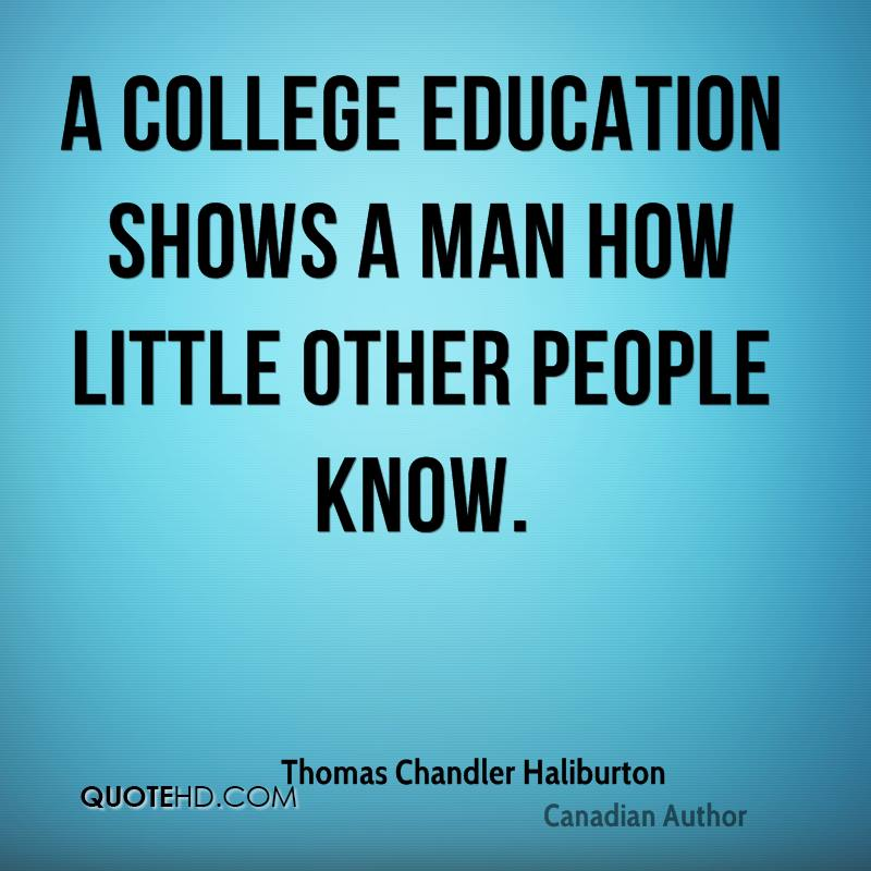 A College Education Showa A Man How Little Other People Know