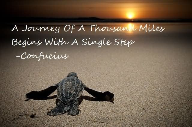 A Journey Of A Thousand Miles Begins With A Single Step
