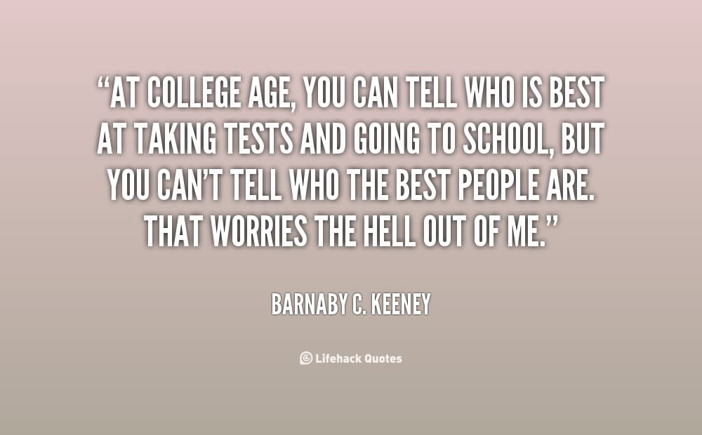 At College Age, You Can Tell Who Is Best At Taking Tests