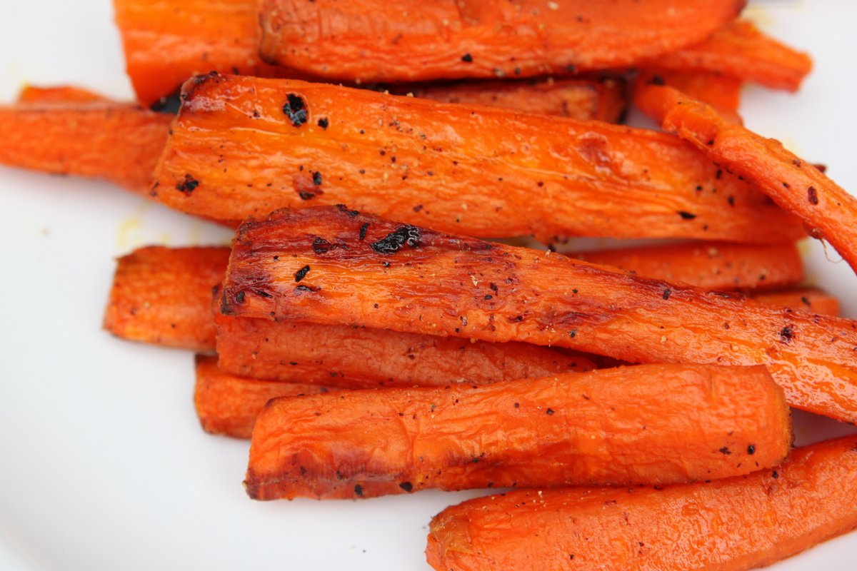 Cooked carrot slices @ Healthy Food For Baby