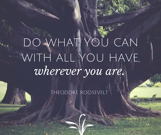 Do What You Can With All You Have, Wherever You Are