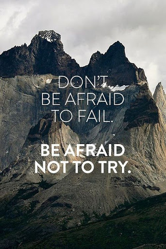 Don't Be Afriad To Fail Be Afraid Not To Try