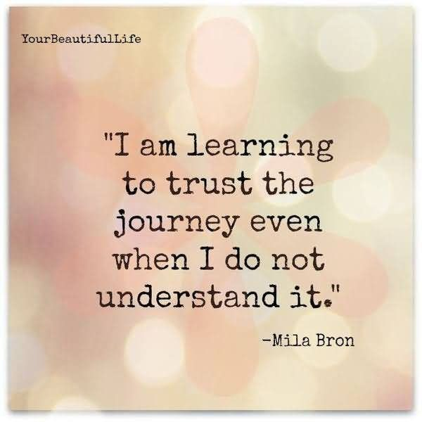 I Am Learning To Trust The Journey Even When I Do Not Undersrtand It