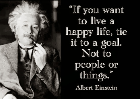 If you want to live a happy life