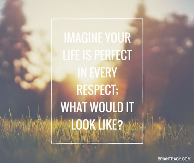 Imagine Your Life Is Perfect In Every Respect; What Would It Look Like