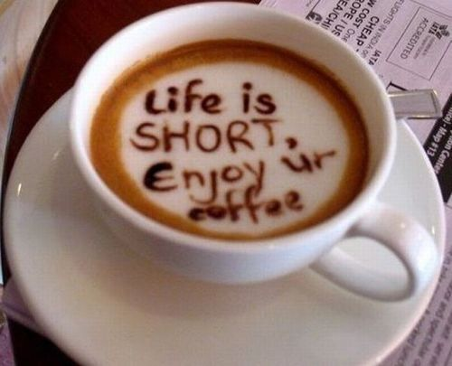 Life Is Short Enjoy Ur Coffee