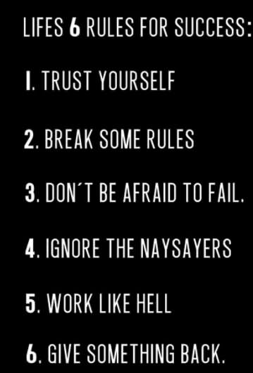 Lifes 6 Rules For Success