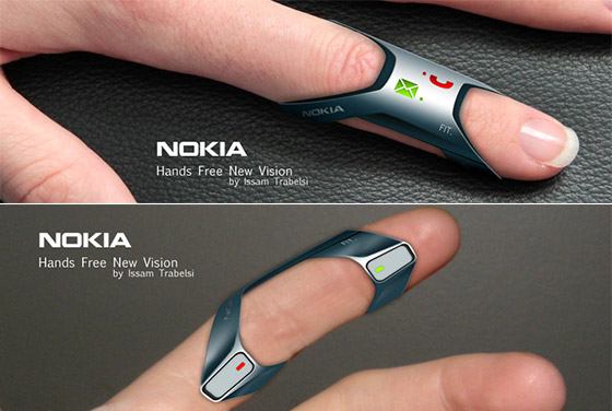 Mobile Gadget Wears On Finger