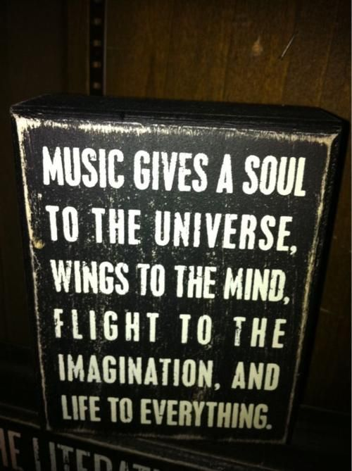 Music Gives A Soul To The Universe Wings To The Mind