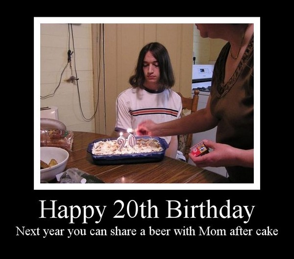 Next year you can share a beer with Mom after cake