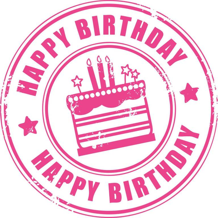 Nice Birthday Stamp Clip Art