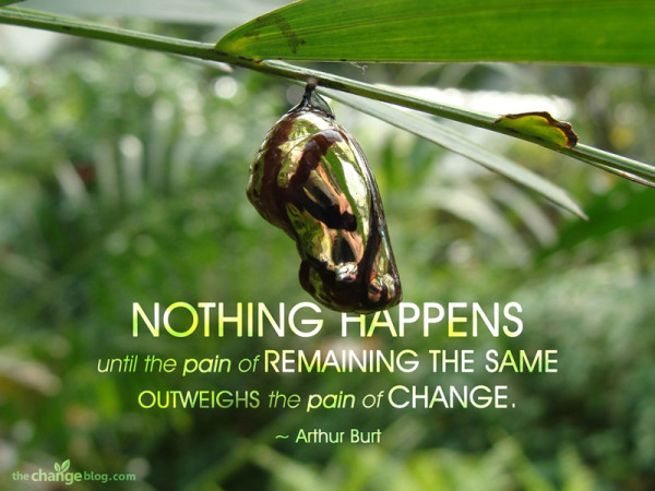 Nothing Happens Until The Pain Of Remaining The Same Outweights The Pain Of Change