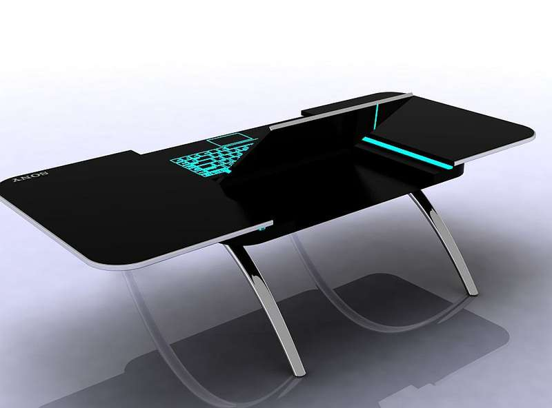 Solid Computer Table