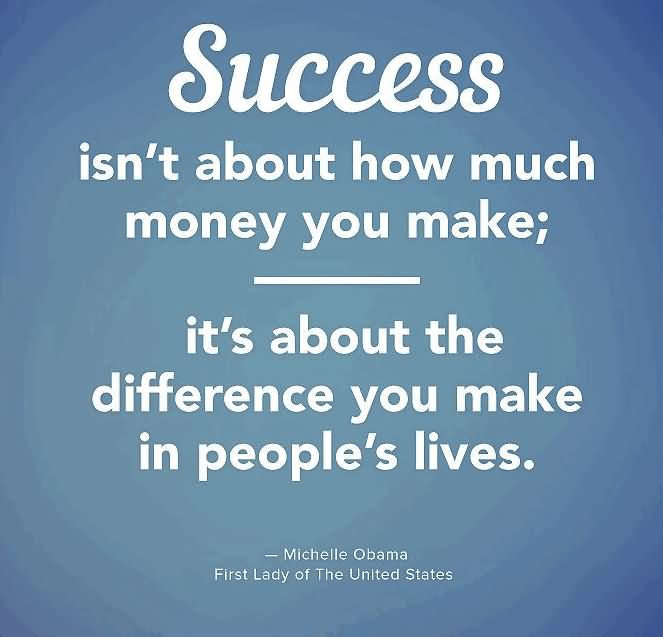 Success Isn't About How Much Money You Make
