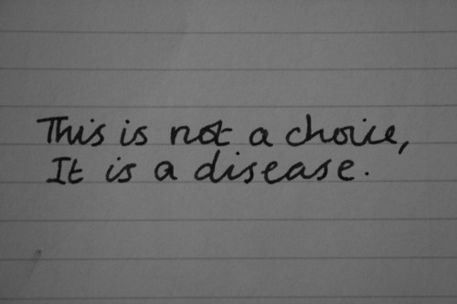 This is not a choice, it is a disease