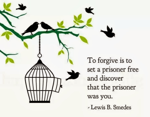 To forgive is to set a prisoner free