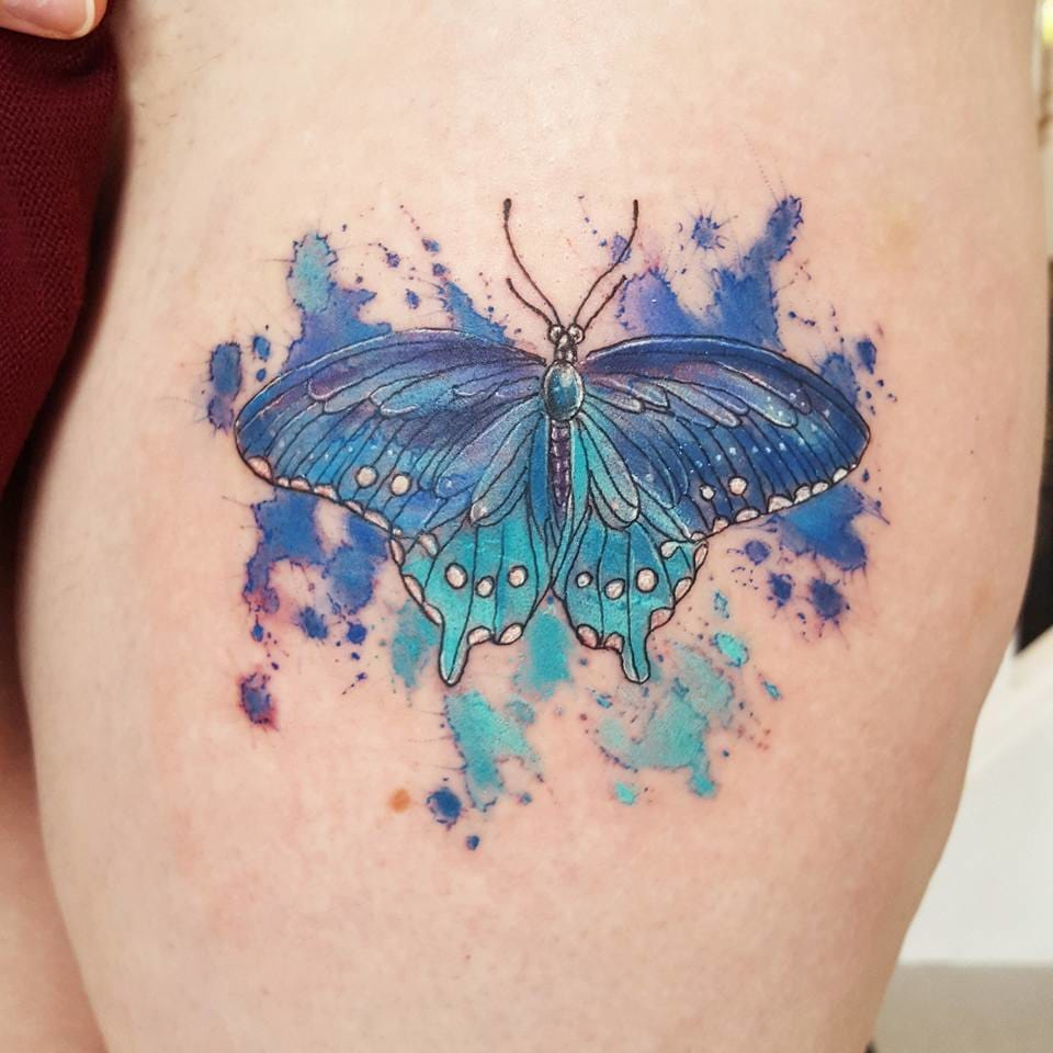 watercolor tattoo butterfly - 960×960