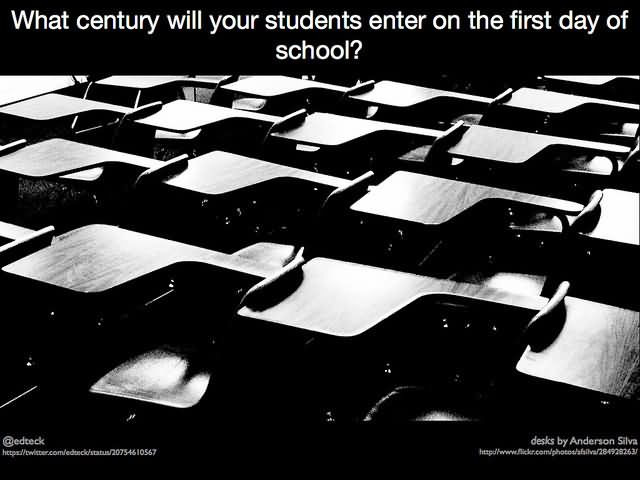 What century will your students enter on the first day of school