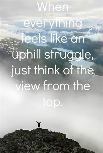 When Everything Feels Like An Uphil Struggle Just Think Of The View From The Top