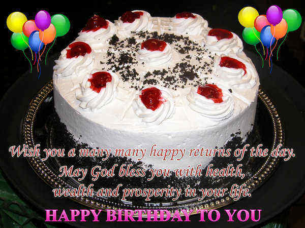 Wish you a many many happy returns of the