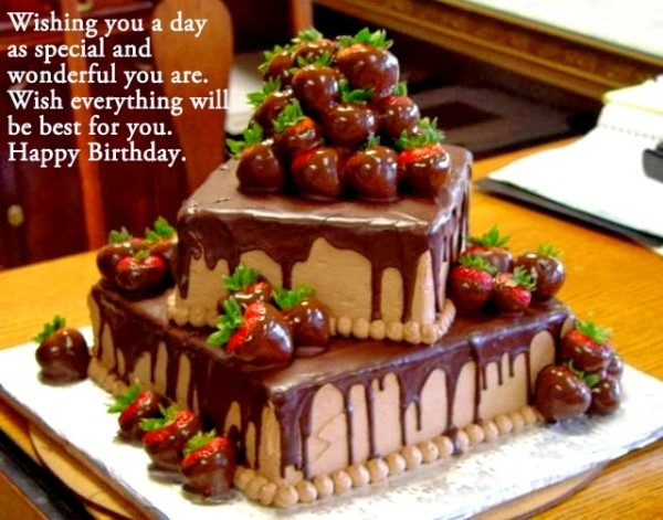 Wishing you a day as special and wonderful as you are