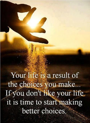 Your Life Is A Result Of The Choices You Make... If You Don't Like Your Life
