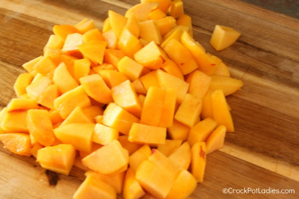 peeled peach chunks @ Healthy Food For Baby