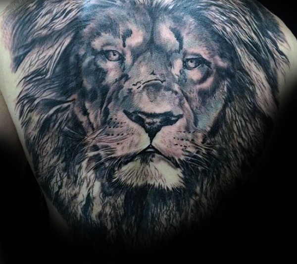 Awesome Lion Back Tattoos Designs