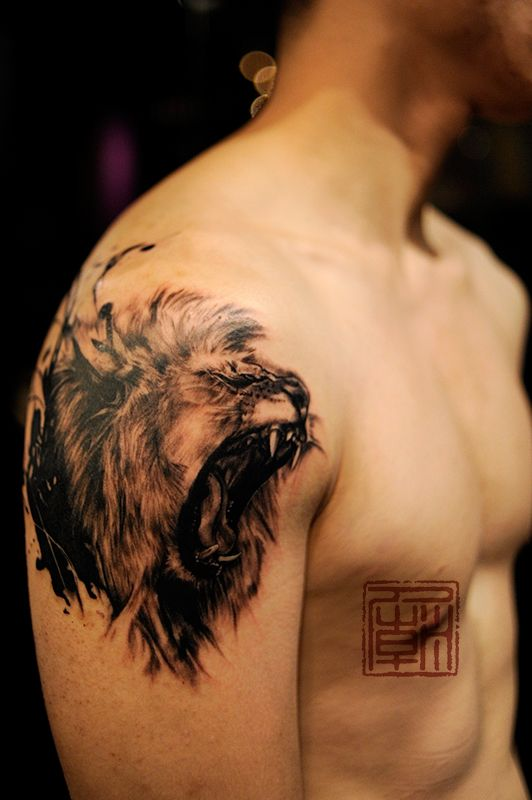 Coolest Lion Tattoo